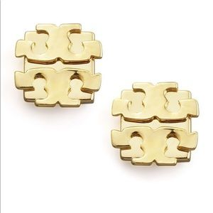 Authentic Tory Burch Large Logo Studs